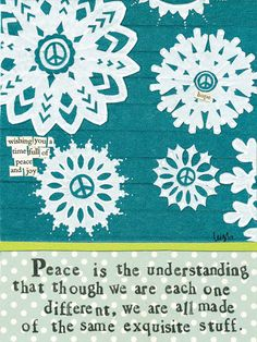 Curly Girl Design Christmas Card - Peace #inpcreative