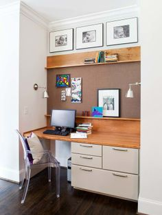 Small home office space