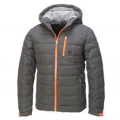 Spyder, Impulse Down ski-jas heren, Polar grijs - Bryte oranje - Cirrus grijs