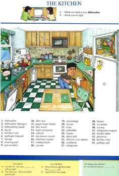 THE KITCHEN - Pictures dictionary - Repinned by Chesapeake College Adult Ed. We offer free classes on the Eastern Shore of MD to help you earn your GED - H.S. Diploma or Learn English (ESL). www.Chesapeake.edu