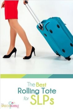 A couple days a week, I am mobile in my building. This means I need to pack everything I may need for that day into a rolling cart. So what's the best rolling tote for SLPs? Here's my take.