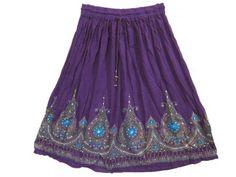 Bohemian Skirt, Designer Sparkly Sequin Purple Mid-length Skirts for Womens Mogul Interior,http://www.amazon.com/dp/B00BULE34W/ref=cm_sw_r_pi_dp_lS2qrb01R060BWNC