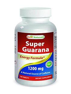 Best Naturals Guarana 1200 mg 180 Tablets >>> For more information, visit image link.