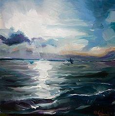"""Stormy Waves"" - Original Fine Art for Sale - © Edward B. Gordon"