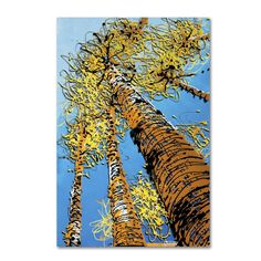 Aspen Sky by Roderick Stevens Painting Print on Wrapped Canvas