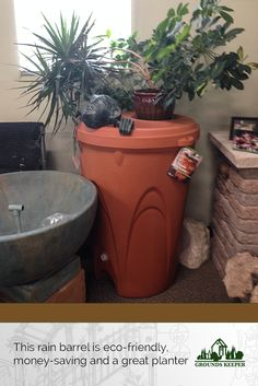 Rainwater harvesting is a great way to save on water bills, feed your garden with the naturally occurring minerals in rainwater and a rain barrel can look great as a planter, too. Talk to us about adding one of these to your NJ home!