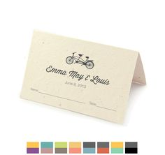 Tandem Bicycle Stationery | Tandem Bicycle Plantable Stationery