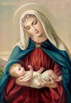 Mary and Baby Jesus Blessed Mother Mary, Divine Mother, Blessed Virgin Mary, Jesus Mother, Baby Jesus, God Jesus, Mary I, Mary And Jesus, Holy Mary