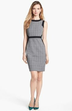 Vince Camuto Glen Plaid Sheath Dress (Online Exclusive) available at #Nordstrom