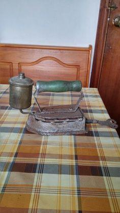 Plancha antigua de gas.
