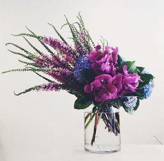 Make a Splash in Purple Beautiful Bouquet Of Flowers, Beautiful Flower Arrangements, Fresh Flowers, Floral Arrangements, Beautiful Flowers, Wedding Flowers, Bouquet Flowers, Exotic Flowers, Purple Flowers