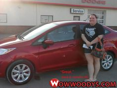 "Kandi Small from Kirksville, Missouri purchased this 2012 Ford Fiesta and wrote, ""Great first time buy."" To view similar vehicles and more, go to www.wowwoodys.com today!"