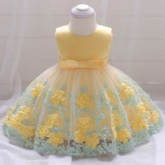 Retail Baby Dresses Girl Birthday Party Ball Gown Dresses Newborn Baby Baptism Dress With Bow Toddlers Summer Girl Dress - Shop Forest is a leading Online Store where you can purchase everything with upto discount. Baby Girl Wedding Dress, Baby Girl Birthday Dress, Wedding Dresses For Girls, Girls Party Dress, Birthday Dresses, Little Girl Dresses, Baby Dress, The Dress, Girls Dresses