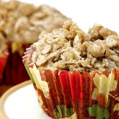 This recipe for apple crisp muffins has a tasty surprise when you take a bite.  The center has a cream cheese filling. The crumble topping also adds texture and flavor with old fashioned oats and cinnamon.   This is an extra tasty muffin.