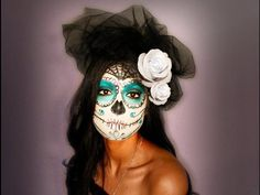 Day of the Dead Halloween Makeup Tutorial – Sugar Head | Viral Makeup is a site about makeup videos, tips and tricks