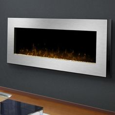 gas wall mount fireplaces | Dimplex Celebrity 49-Inch Wall Mount Electric Fireplace - Stainless ...