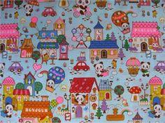 Cosmo Textiles, Panda Village Blue