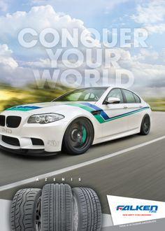 Falken Tire European Car Magazine Ad Conquer Your World