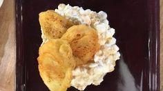 Vyprážané banány v kokosovom cestíčku na cottage cheese s medom a ovsenými vločkami | Varený-pečený