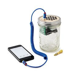 Look what I found at UncommonGoods: Mason Jar Speaker & Amplifier for $65 #uncommongoods
