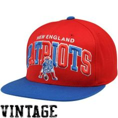 2869bdbf1c8 Mitchell And Ness NFL Arch New England Patriots 2 Tone Snapback Hat Red.  Size  by Mitchell   Ness.  24.62