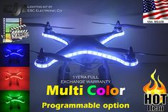 The DJU Phantom Quadcopter is a pretty awesome drone for aerial photography. It is not super expensive and helps you capture fun videos and photos Uav Drone, Drones, Dji Phantom 2, Search And Rescue, Aerial Photography, Ufo, Cool Stuff, Lights, Accessories