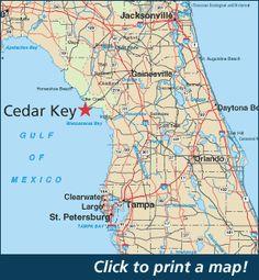 Where is Cedar Key Florida? Map of Cedar Key Florida Cedar Key Florida, School Murals, Maputo, Places To Visit, To Go, Coast, Mexico, Island, Birth