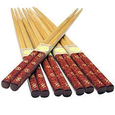 wood chopstick rest | Chopsticks » Chopsticks Sets » Bamboo Chopsticks Brown w/ Gold ...