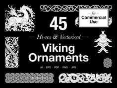 A set of 45 editable vector and Hi-res graphics From the Anatomy of Viking Art Series All the designs are based on the principles and characteristics of the actual Viking Age art styles of ornaments from artefacts found predominantly in Scandinavia from c. 750 – 1125. The designs include motifs in [...]