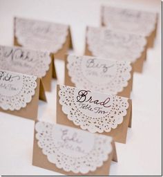 Easy to make wedding placement cards