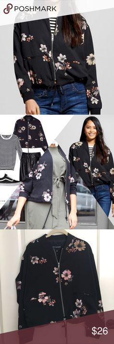 WhoWhatWear Floral Bomber Jacket NWT NWT, WhoWhatWear Floral Bomber, Size Medium. Love This Piece, Perfect With Your Favorite White Tee & Distressed Jeans! Who What Wear Jackets & Coats