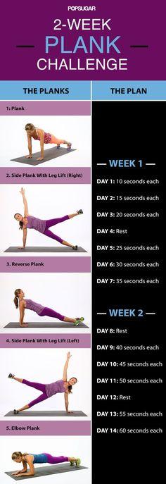 2 Week Plank Challenge
