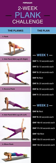 If physical activity is one of your New Year's resolutions, try this two-week plank challenge to kick start you toward your fitness goals!