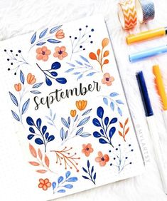 Bullet journal inspiration September has ended but this cover . - deutshlang - Bullet journal inspiration September has ended but this cover . Bullet journal inspiration September has ended but this cover by is just so beautiful! Bullet Journal Cover Ideas, Bullet Journal Lettering Ideas, Bullet Journal Notebook, Bullet Journal Aesthetic, Bullet Journal School, Bullet Journal Layout, Bullet Journal Ideas Pages, Bullet Journal Inspiration, Bullet Journal Months