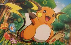 Raichu Pokemon First Generation, Pokemon Stuff, Pikachu Evolution, Pikachu Raichu, Gotta Catch Them All, Pokemon Collection, Cute Faces, Pokemon Cards