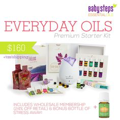 Baby Steps To Essential Oils - Young Living - Premium Starter Kit of Everyday Oils