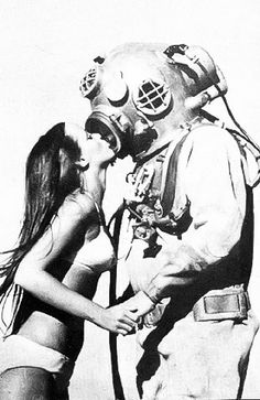 old time diver and lady friend