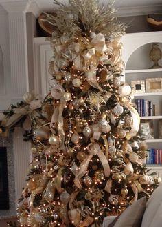 Ideas Para Decorar Tu Arbol Esta Navidad Navidad Pinterest - Arboles-de-navidad-dorados