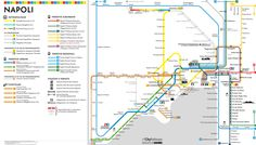 Unofficial map of Naples (Napoli) Italy Metro Subway System.