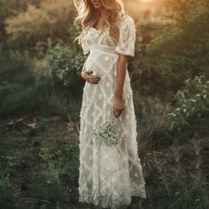 Maxi Dress With Sleeves, Lace Dress, Short Sleeve Dresses, Tulle Gown, Long Sleeve, Casual Maternity, Maternity Fashion, Maternity Dresses For Photoshoot, Maternity Wedding Dresses