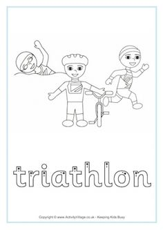 Triathlon Finger Tracing