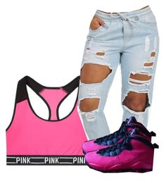 """""""Untitled #511"""" by chynaloggins ❤ liked on Polyvore featuring Victoria's Secret"""