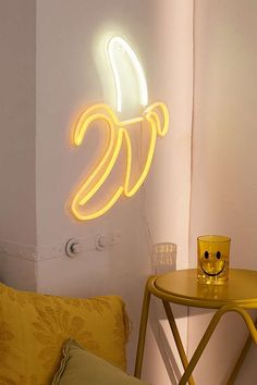 Urban Outfitters Banana Neon Sign