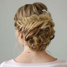 """Another view of yesterday's tutorial  Braid Embellished Updo 