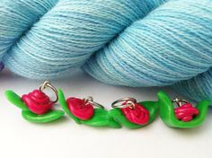Knitting Stitch Markers Rose Pops by rosyretro on Etsy, £3.50