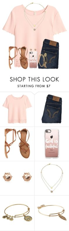 """Good Morning :))"" by twaayy ❤ liked on Polyvore featuring Hollister Co., Matisse, Casetify, River Island, Michael Kors and Alex and Ani"