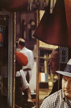 "Saul Leiter (born 1923) is an American photographer and painter whose early work in the 1940s and 1950s was an important contribution to what came to be recognized as The New York School.  His abstracted forms and radically innovative compositions have a painterly quality that stands out among the work of his contemporaries. Martin Harrison said, ""He sought out moments of quiet humanity in the Manhattan maelstrom, forging a unique urban pastoral from the most unlikely of circumstances."""