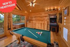 Sky High is a beautiful 1 bedroom log cabin with a pool table and a multi arcade game for the whole family to enjoy. You can also jump in the hot tub after a long day of walking in town.
