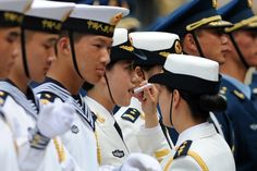 Week of Jun 7-13, 2014  A Chinese honor guard prepares for the arrival of Bangladeshi Prime Minister Sheikh Hasina and Chinese Premier Li Keqiang at a welcome ceremony outside the Great Hall of the People in Beijing on Monday. Wang Zhao/Agence France-Presse/Getty Images