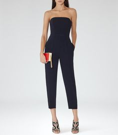 Pin for Later: Jump Into Something a Bit Different This Wedding Season Reiss 1971 Anouk Strapless Jumpsuit Reiss 1971 Anouk Strapless Jumpsuit (£130, originally £189)
